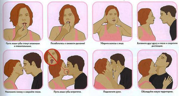 советы при первом поцелуе