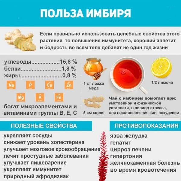 картинка с описанием полезных свойств имбиря