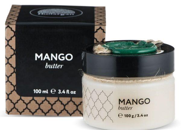 банка с твердым маслом манго
