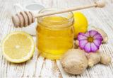 мед, имбирь и лимон