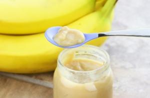 пюре из банана в баночке