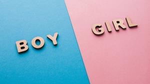 надпись мальчик и девочка