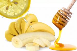 банан, мед и лимон