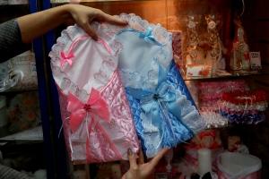 розовый и голубой конверт