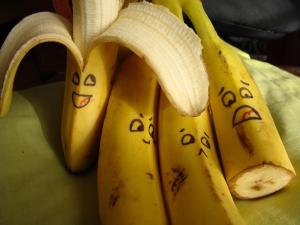 разрисованные бананы