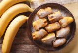 свежие и жареные бананы