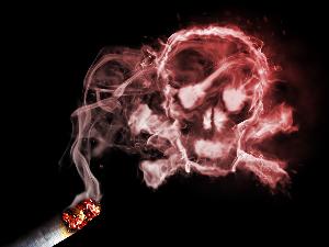 череп из сигаретного дыма