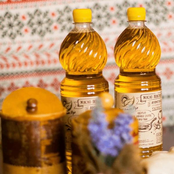 фото с подсолнечным маслом в национальном стиле