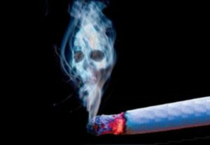 сигарета и дым