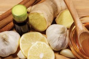 чеснок, лимон, имбирь