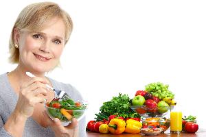 женщина и овощи