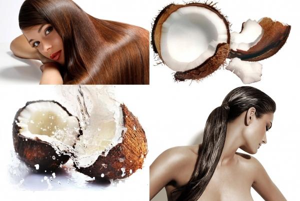 кокос, масло, волосы