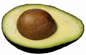 косточка разрезанного авокадо