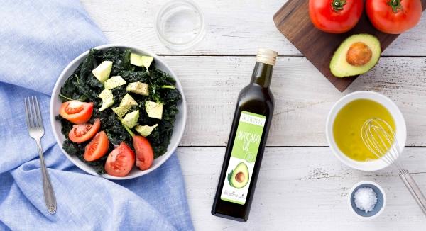 салат из овощей, масло