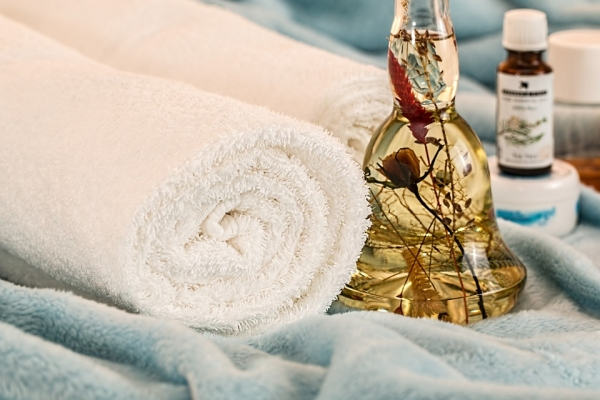 полотенце, спа, эфирное масло