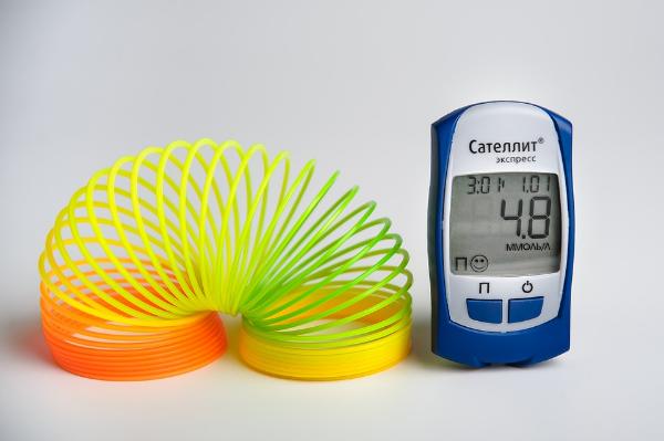 глюкометр и пружинка радуга