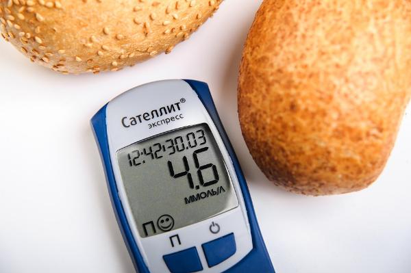 хлеб и глюкометр
