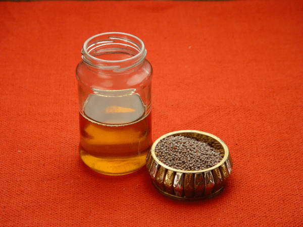 масло и семена горчицы