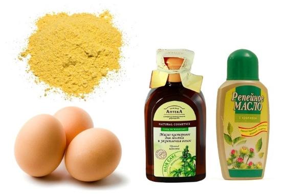 яйцо, горчица, масло репейное