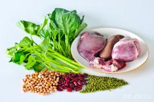 продукты, мясо, бобовые