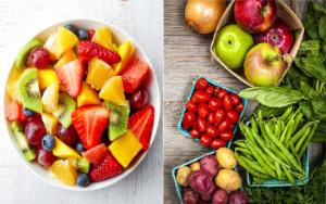 фрукты и овощи, коллаж