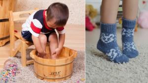 ребенок парит ноги
