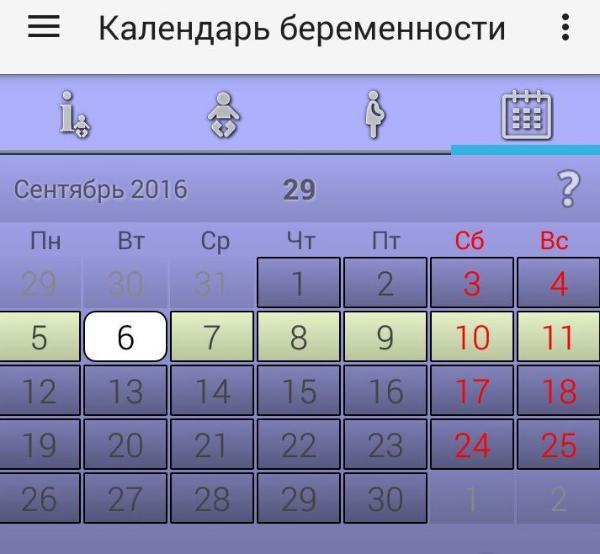 календарь, приложение