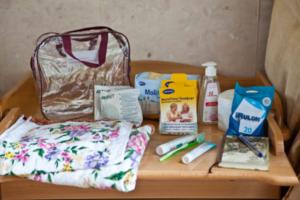 вещи в роддом, сумка
