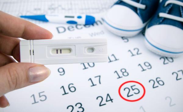 тест на беременность на фоне календаря