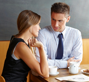беседа в кафе