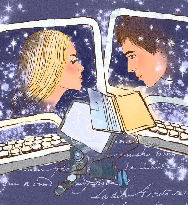 виртуальная любовь, рисунок
