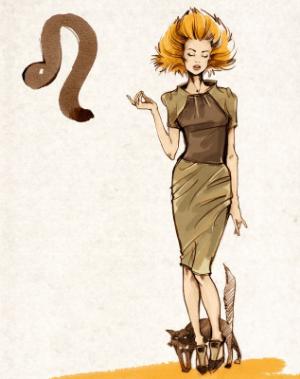 девушка знака лев рисунок