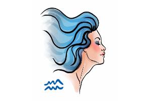 водолей, девушка рисунок
