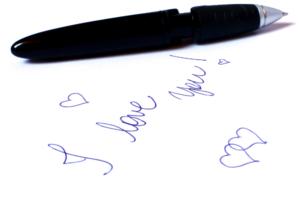 написанная ручкой фраза