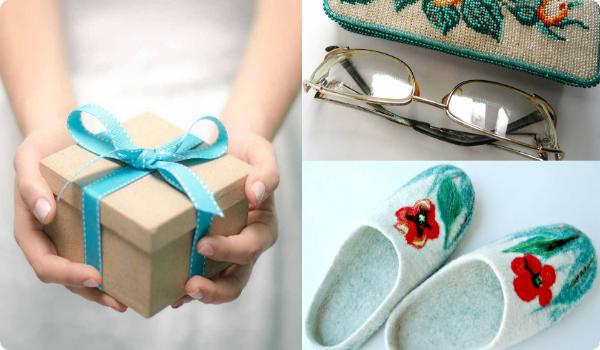 подарок, тапки и очки