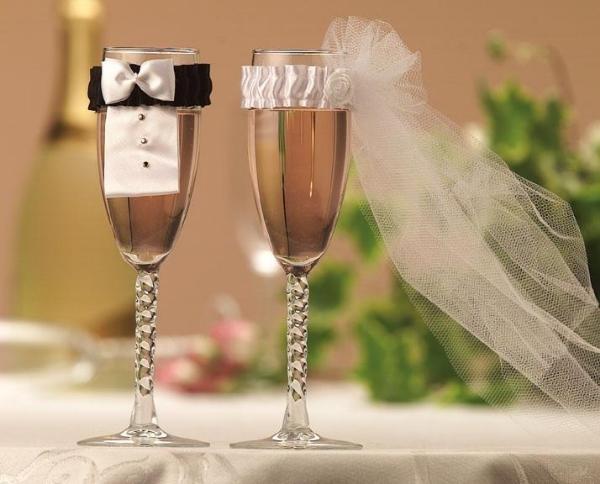 бокалы на свадьбе