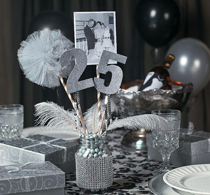 декор на 25 лет свадьбы