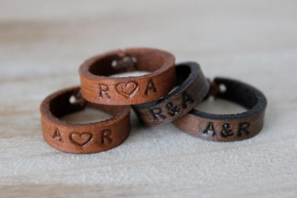 кожаные кольца