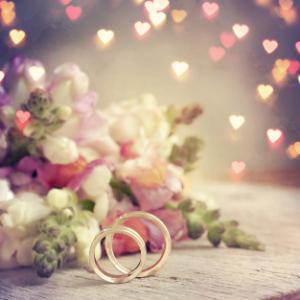 кольца, сердечки, цветы