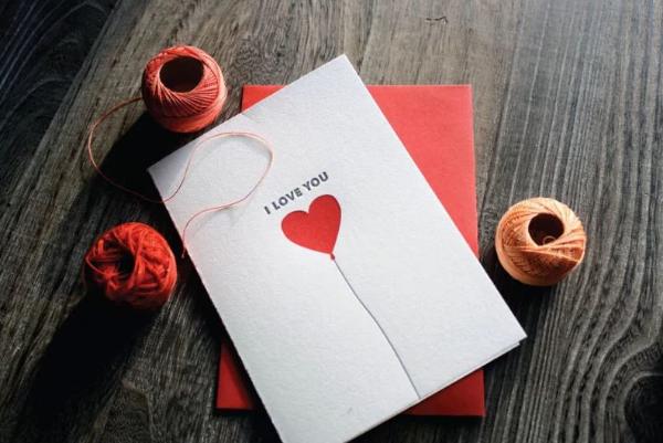 открытка с сердечком