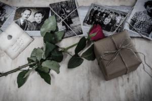 черно-белые фото, подарок, роза
