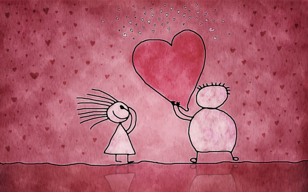 рисунок про любовь