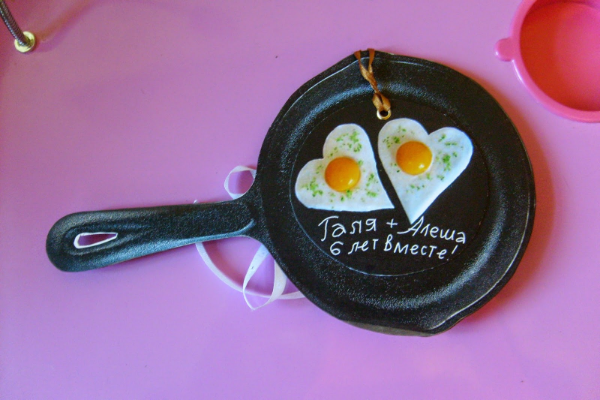 сковорода с яичницей
