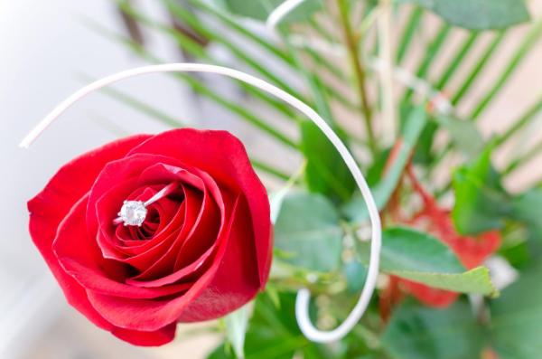 роза с кольцом