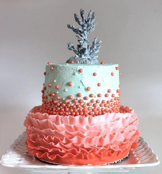 свадебный торт, кораллы