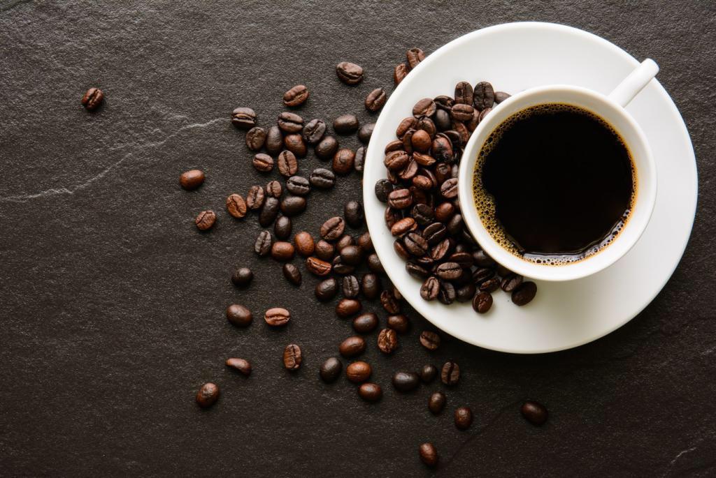 кофе и зерна кофе