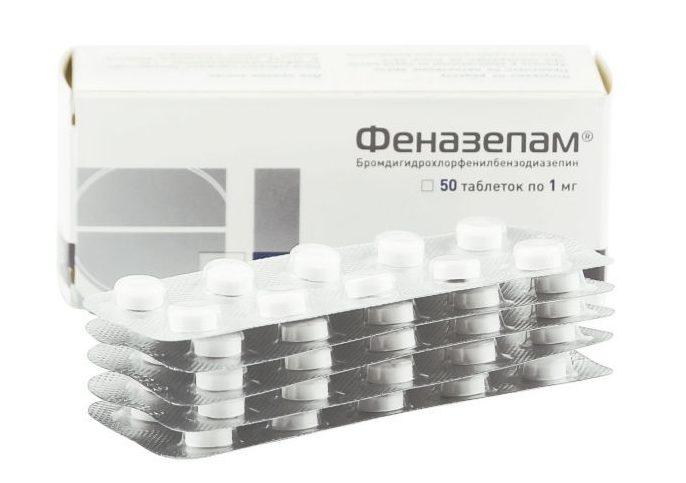 упаковка феназепама