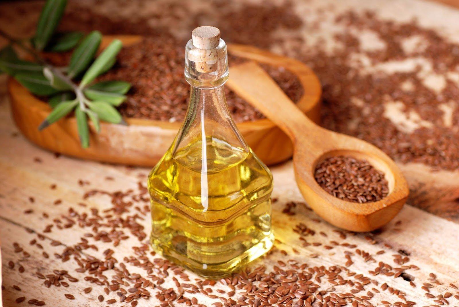 масло и семена льна