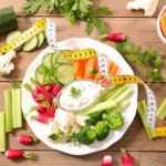 продукты и сантиметр
