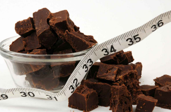 шоколад и сантиметр